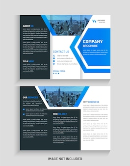 Creative corporate trifold brochure design and trifold flyer template