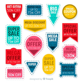 Creative coupon sale label pack