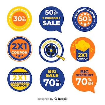 Creative coupon sale label set