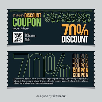 Design modello coupon creativo