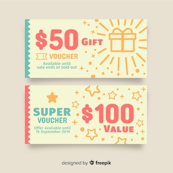 Creative coupon template