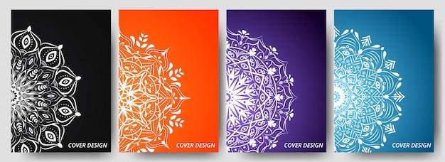 Creative cover book design with mandala ornament