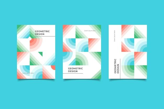 クリエイティブカバーデザインレトロ幾何学