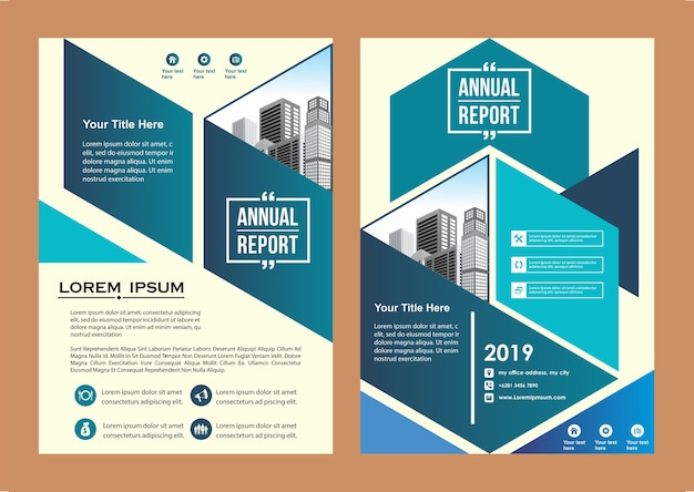 Creative cover layout brochure magazine catalog for event