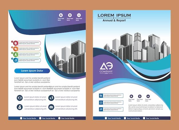 Creative cover layout brochure magazine