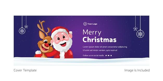 Креативный дизайн обложки шаблона merry christmas