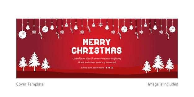 Креативный дизайн обложки merry christmas