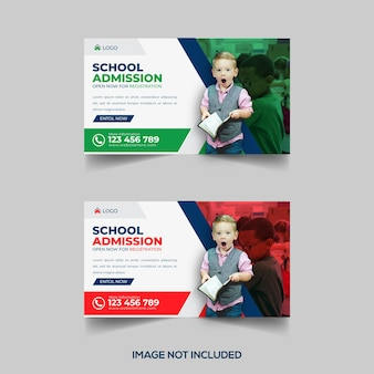 Creative cover photo or email signature or banner design for back to school  template