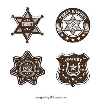 Creative cowboy label collection