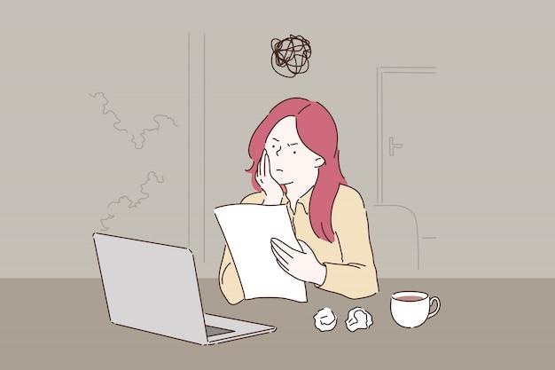 Creative crisis, burnout concept