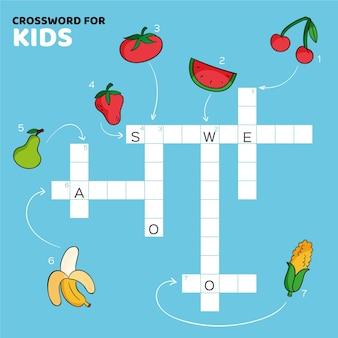 Creative crossword in english worksheet