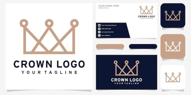 Креативный дизайн логотипа короны и визитная карточка