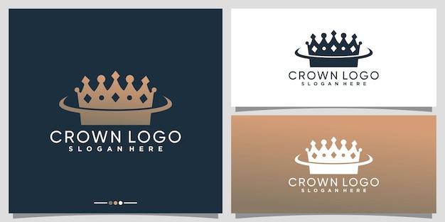 Creative crown logo design with unique modern concept premium vector