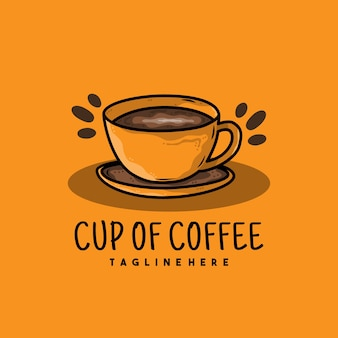 Creative cup of coffee illustration logo design