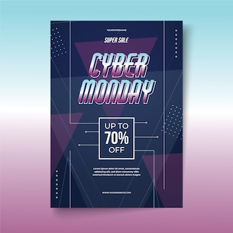 Creative cyber monday flyer template with special offer