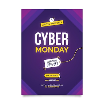 Creative cyber monday flyer template