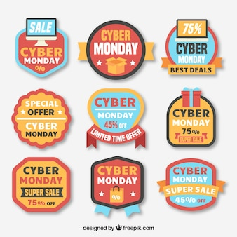 Creative cyber monday labels