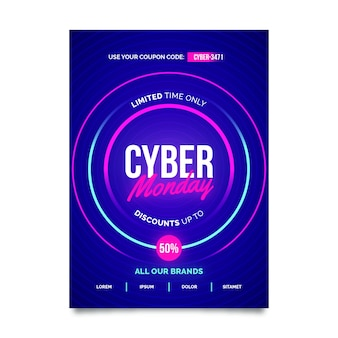 Creative cyber monday poster template