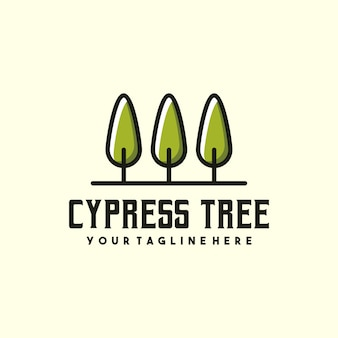 Creative cypress tree logo