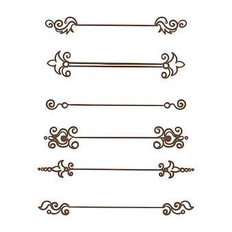 Creative damask dividers vintage flower divider set