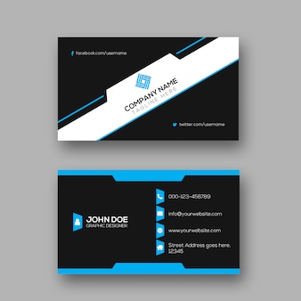 Creative dark business card design