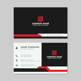 Творческий темный визитной карточки векторный дизайн шаблона