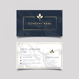 Creative dark textured modern clean business card