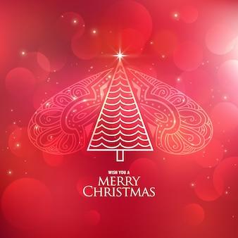 Creative decorative christmas tree design background
