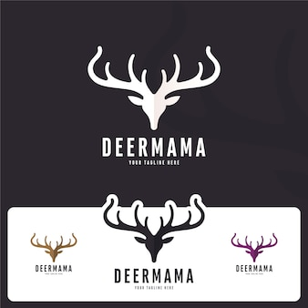 Creative deer logo