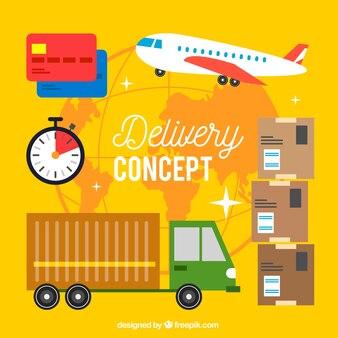 Концепция концепции креативной доставки