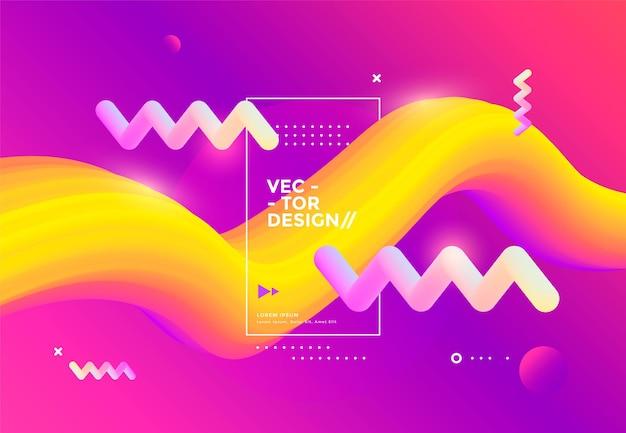 クリエイティブなデザインの3dフローシェイプ。液体の波の背景。