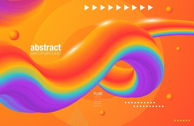 Creative design 3d flow shape