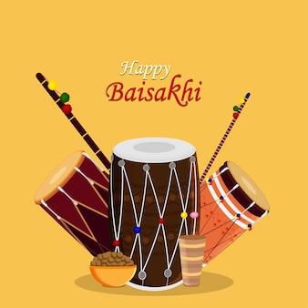 Creative design concept of happy vaisakhi