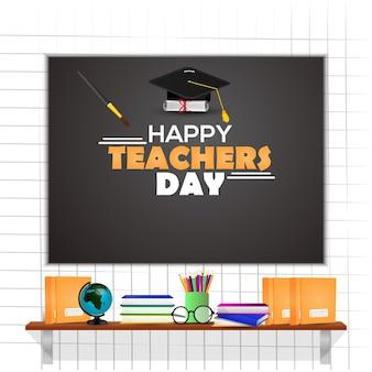 Креативная концепция дизайна счастливого дня учителя