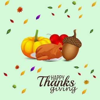 Creative design concept of thanksgiving day background