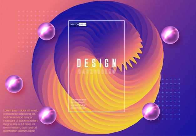 Creative design fluid poster