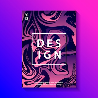 Creative design poster with marbling.