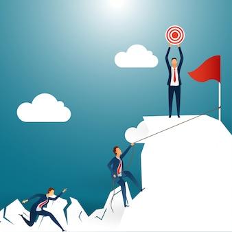 Creative design for success or goal achievement concept.