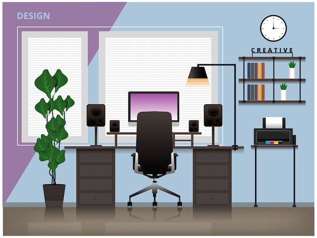 Creative designer room setup