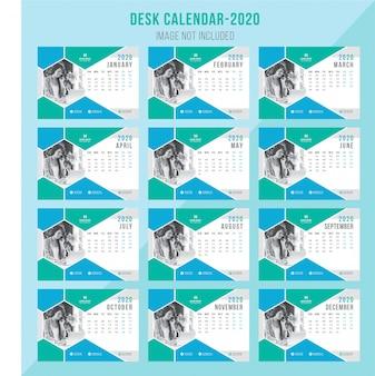 Creative desk calendar 2020