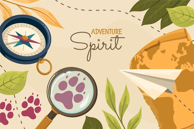 創造的な詳細な冒険の背景