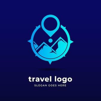 クリエイティブな詳細な旅行のロゴ