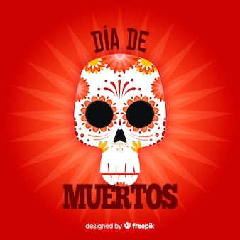 Creative dia de muertos background concept