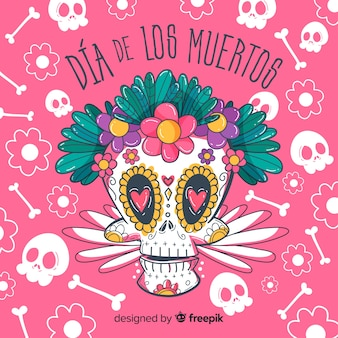 Creative dia de muertos background design