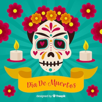 Creative dia de muertos background