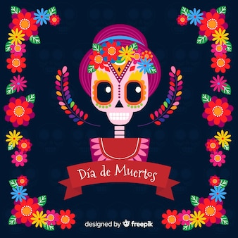 Creative día de muertos background