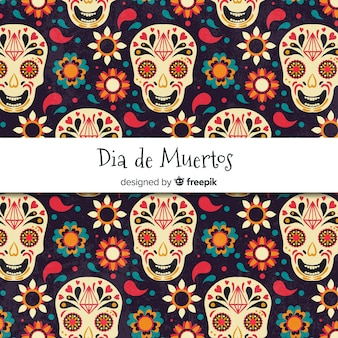 Creative dia de muertos pattern