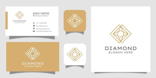 創造的なダイヤモンドコンセプトテンプレートと名刺