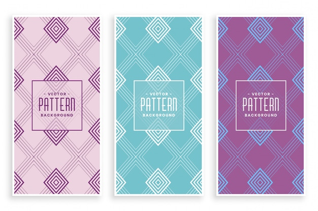 Creative diamond lines pattern in soft colors