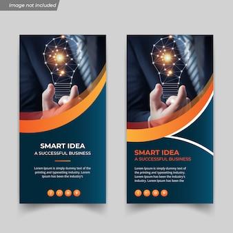 Creative and digital business idea flyer template